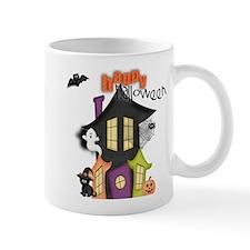 Happy Halloween haunted house Mugs