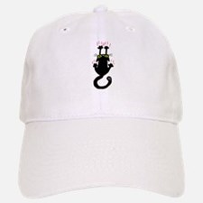 Black cat sliding down Baseball Baseball Baseball Cap