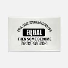 Cool Backpackers designs Rectangle Magnet