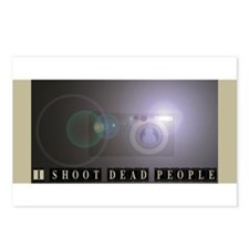 I shoot dead people Postcards (Package of 8)