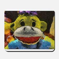 Yellow Sock Monkey Mousepad
