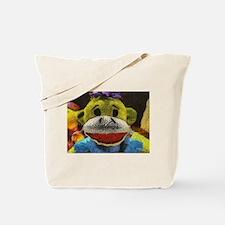 Yellow Sock Monkey Tote Bag