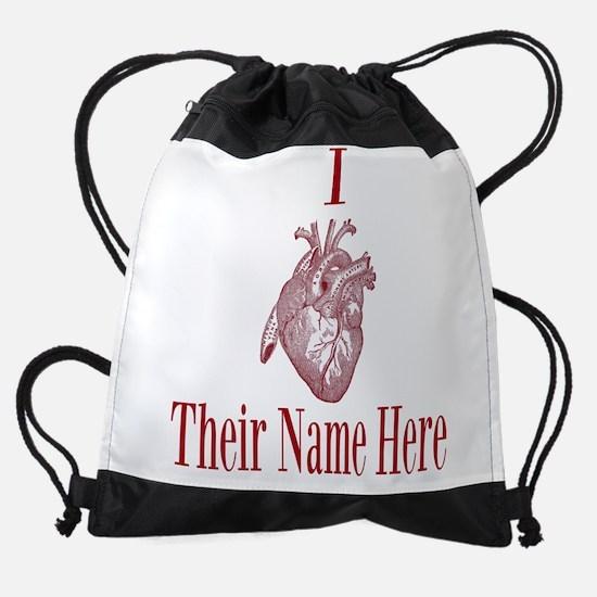 I Heart You Drawstring Bag
