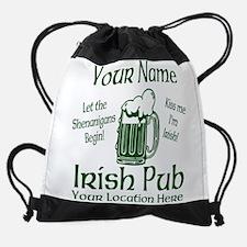 Custom Irish pub Drawstring Bag