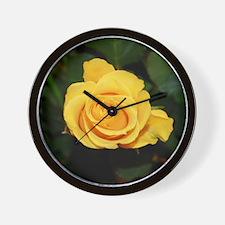 Rose yellow 001 Wall Clock