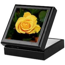 Rose yellow 001 Keepsake Box