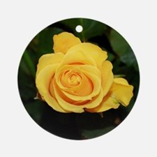 Rose yellow 001 Round Ornament