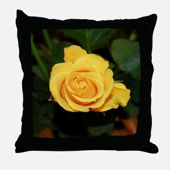Rose yellow 001 Throw Pillow