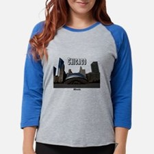 Cute Chicago skyline Womens Baseball Tee