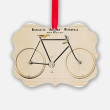 Bicycle, Vintage Poster Ornament