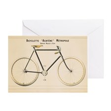 Bicycle, Vintage Poster Greeting Cards