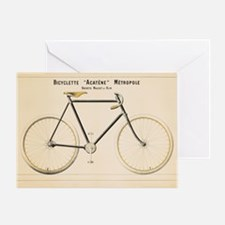 Bicycle, Vintage Poster Greeting Cards
