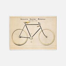 Bicycle, Vintage Poster 5'x7'Area Rug