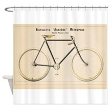 Bicycle, Vintage Poster Shower Curtain