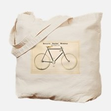Bicycle, Vintage Poster Tote Bag