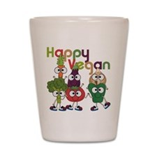 Happy Vegan Shot Glass