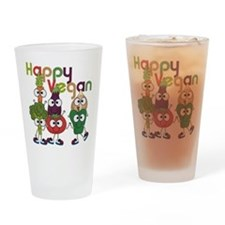Happy Vegan Drinking Glass