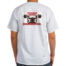 DEDICATE, DOMINATE Ash Grey T-Shirt