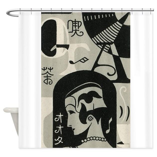Japan Art Deco Music Vintage Poster Shower Curt By