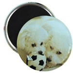 SOPHIE AND MARCO SOCCER MAGNET (ROUND)