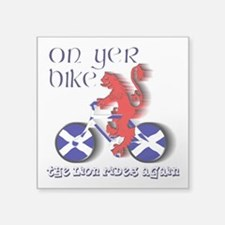 Scottish lion cycling fun Sticker
