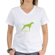 Women's Standard Fit V-Neck = The Point Lime