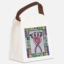 Paws For A Cure St. Glass Canvas Lunch Bag