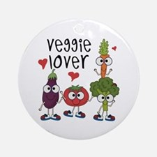 Veggie Lover Ornament (Round)