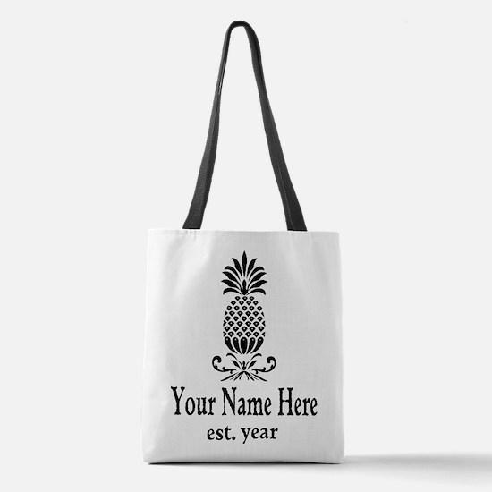 Vintage Pineapple Polyester Tote Bag