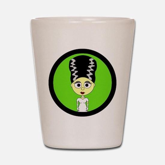 Cute Bride of Frankenstein Shot Glass