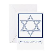 bar mitzvah flourish Greeting Cards