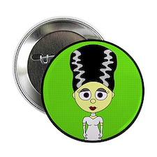 """Cute Bride of Frankenstein 2.25"""" Button"""