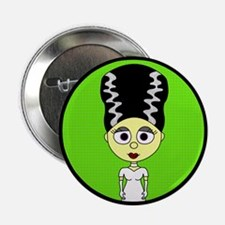 "Cute Bride of Frankenstein 2.25"" Button"