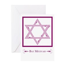 bat mitzvah flourish Greeting Cards