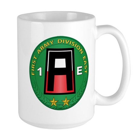 SSI - 1st Army Division East with Text Large Mug