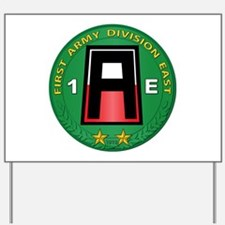 SSI - 1st Army Division East with Text Yard Sign
