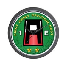 SSI - 1st Army Division East with Text Wall Clock