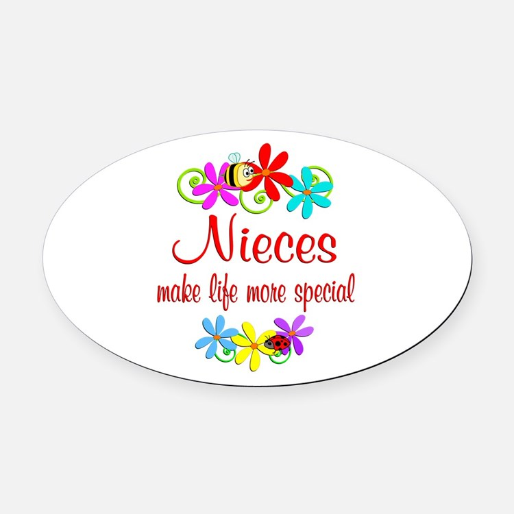 Special Niece Oval Car Magnet