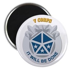 """DUI - V Corps With Text 2.25"""" Magnet (10 pack)"""