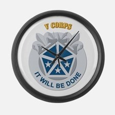 DUI - V Corps With Text Large Wall Clock