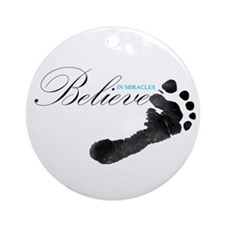 Believe in Miracles Ornament (Round)