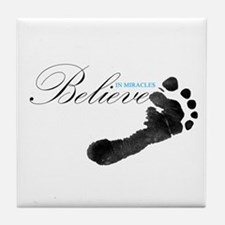 Believe in Miracles Tile Coaster