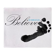 Believe in Miracles Throw Blanket