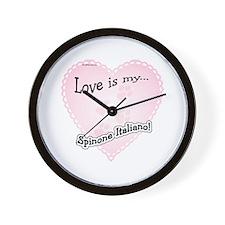 Love is my Spinone Italiano Wall Clock