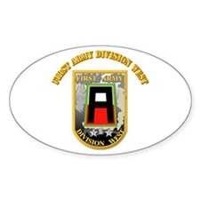 SSI - First Army Division West with Text Decal