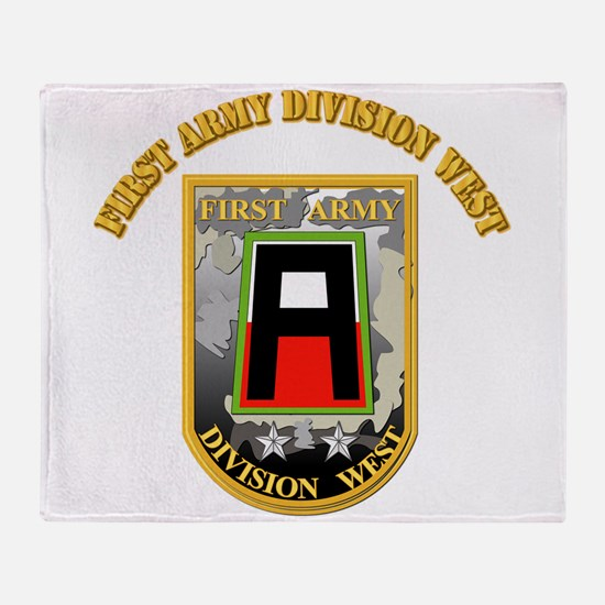SSI - First Army Division West with Text Throw Bla