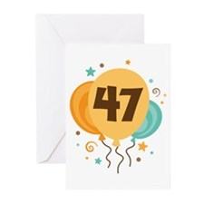47th Birthday Party Greeting Cards (Pk of 20)