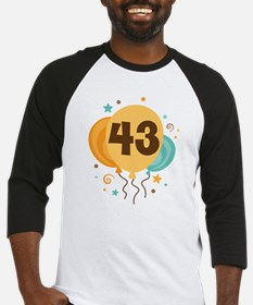 43rd Birthday Party Baseball Jersey