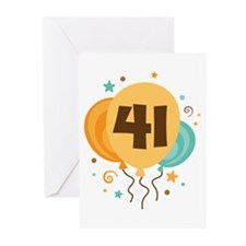 41st Birthday Party Greeting Cards (Pk of 10)