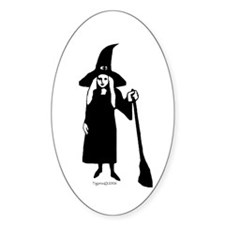 Little Witch Oval Decal